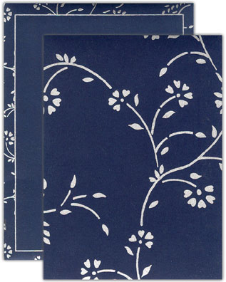 royal blue silver invitation card